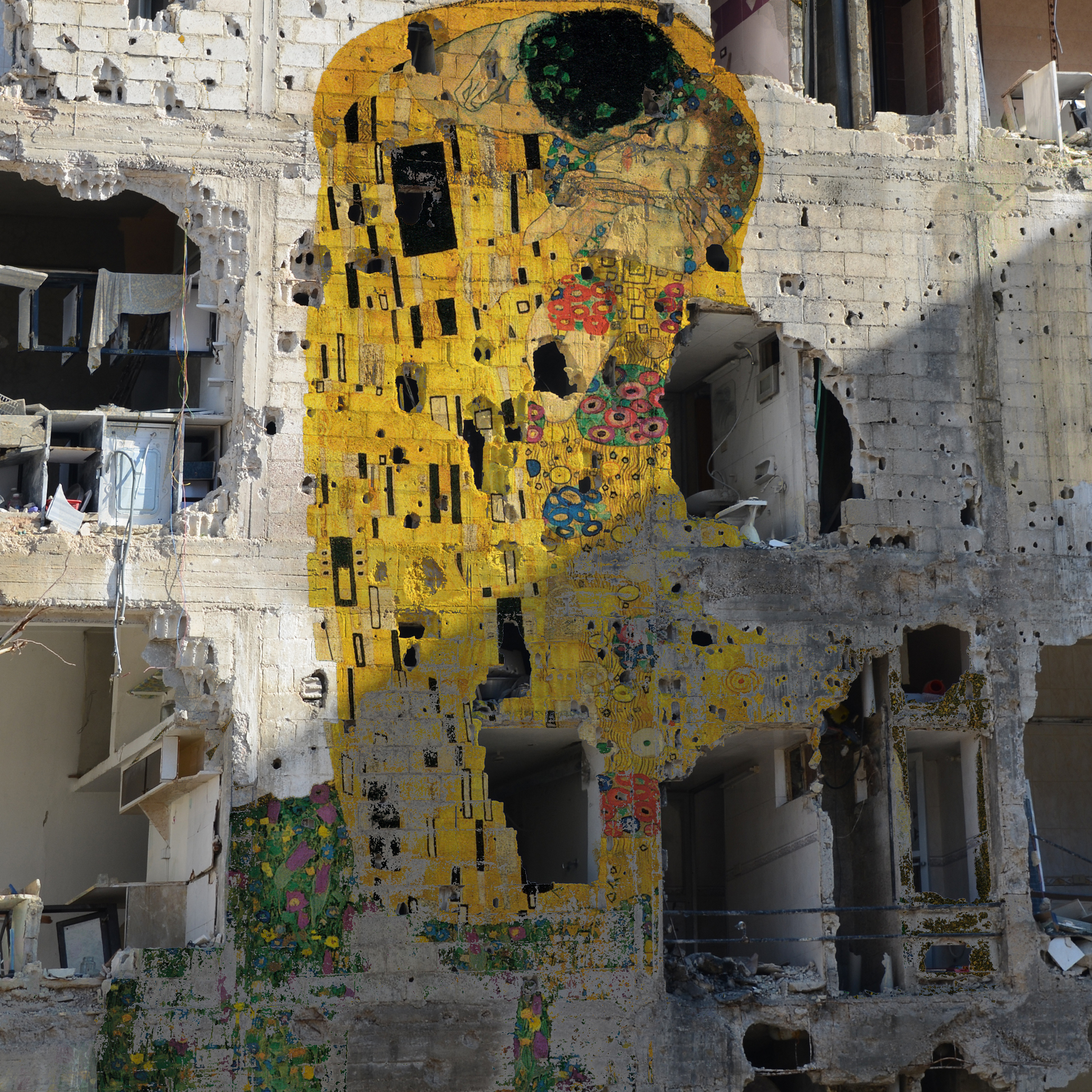 Tammam Azzam Freedom Graffiti, 150x150cm, Archival Print, 2012, Edition of 5, Courtesy of the artist and Ayyam Gallery