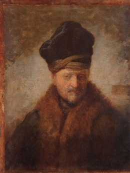 Rembrandt's 'Bust of an old man in a fur cap'