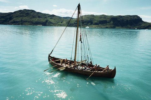 Viking ship off Greenland