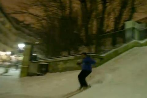 skiing in paris