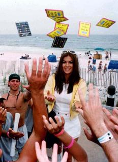 MTV STAR TOSSES FREE CONDOMS ON FLORIDA BEACH BEFORE SPRING BREAK