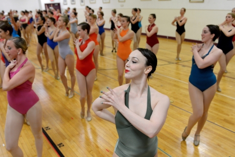 Open tryouts for the Rockettes at Radio City Music Hall
