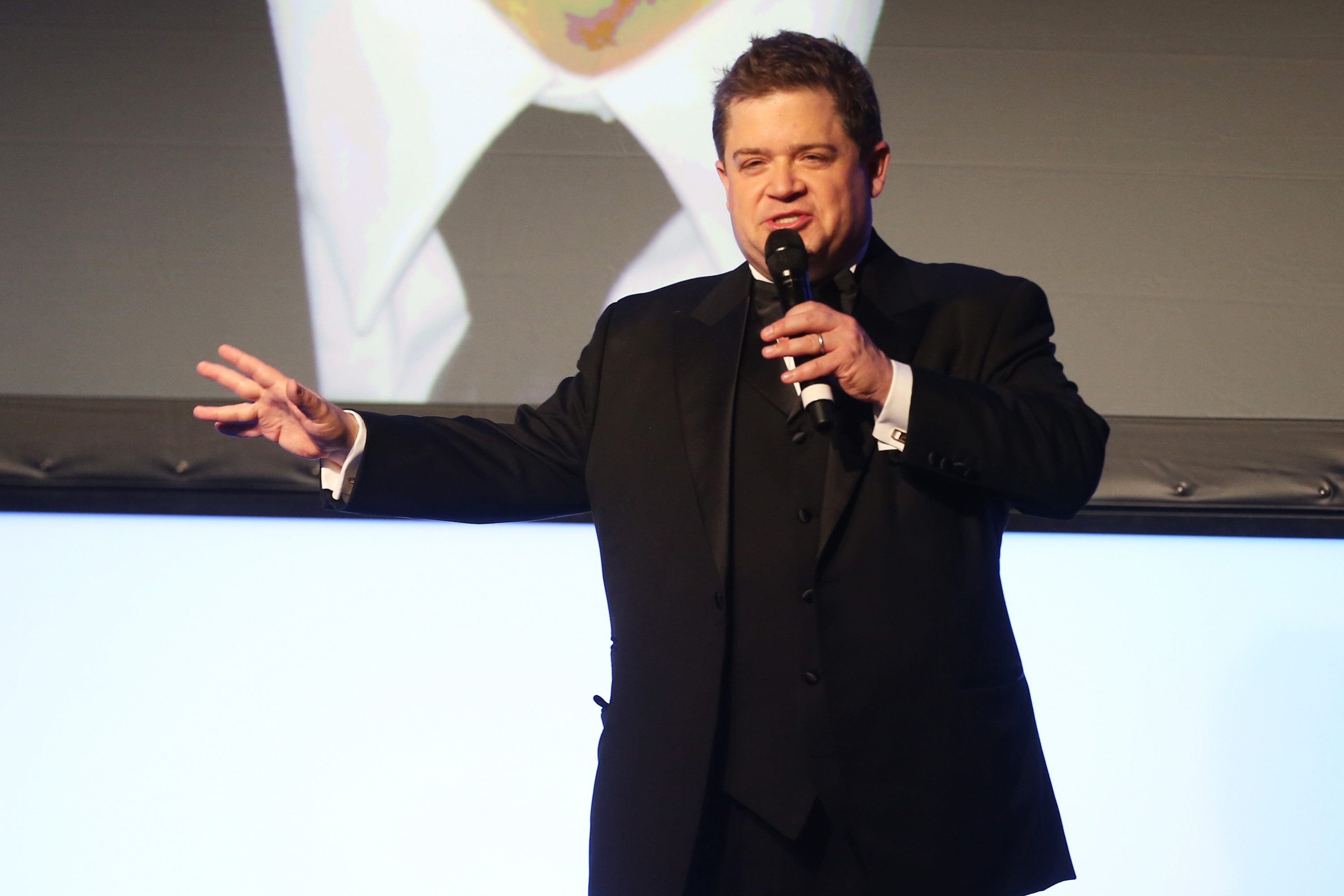 Image: Patton Oswalt speaks onstage during the 26th American Cinematheque Award Honoring Ben Stiller - Show