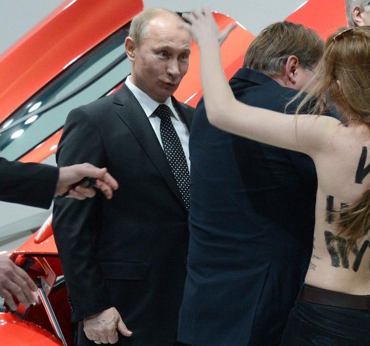 Femen Strikes at the Heart of Vladimir Putin - Vocativ