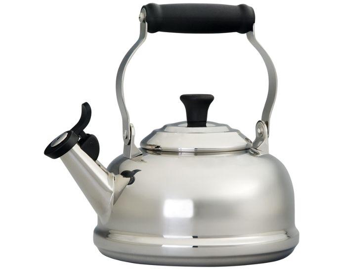 Le Creuset 1.7 quart stainless steel whistling tea kettle
