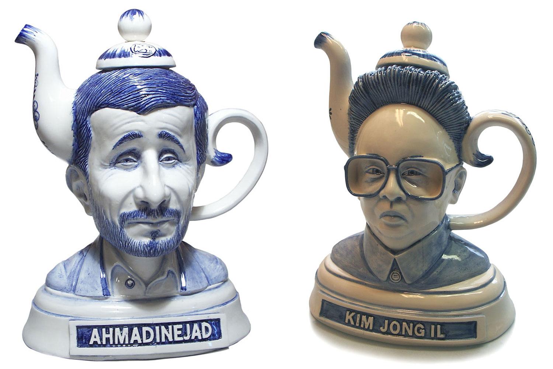Ahmadinejad and Kim Jong Il tea kettles