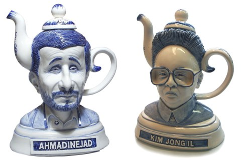 Ahmadinejad and Kim Jong Il tea kettles