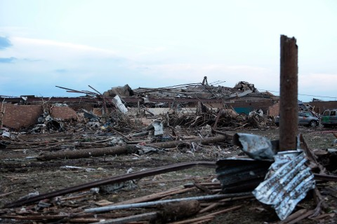 Massive Tornado Causes Large Swath Of Destruction In Suburban Moore, Oklahoma