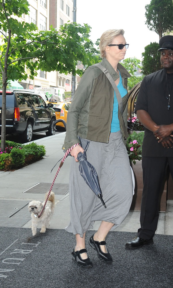 Actress Jane Lynch is seen in SoHo May 29, 2013 in New York City.