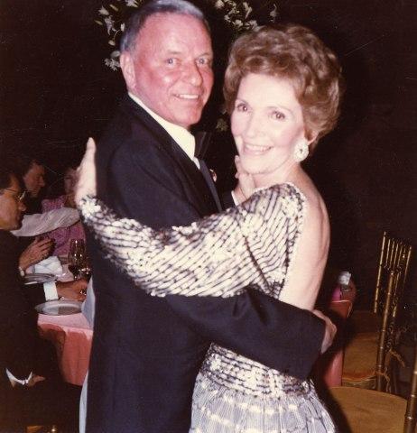 Frank Sinatra dancing with First Lady Nancy Reagan, Dec. 31, 1981.