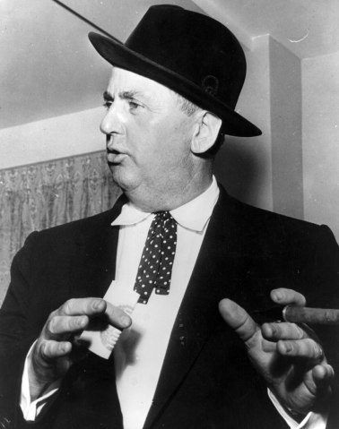 Elvis Presley's controversial manager Colonel Tom Parker, often refered to as 'The Colonel', in 1963.