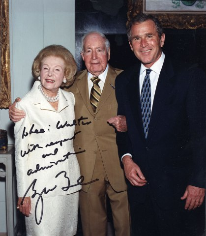 Gov. George W. Bush with Walter and Leonore Annenberg, May 2000.