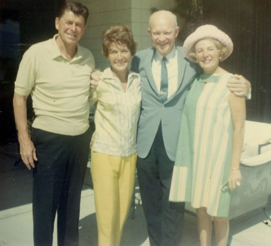 The Reagans with President Dwight Eisenhower and Leonore Annenberg in 1967.