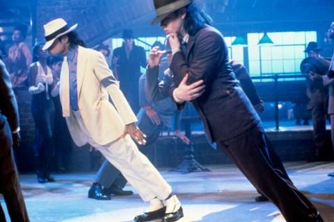 Michael Jackson on the set of 'Smooth Criminal' on Jan. 1, 1987.