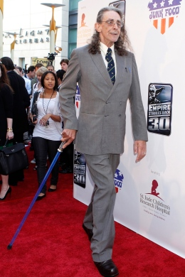 "Original cast member Mayhew attends a screening commemorating ""Star Wars: Episode V The Empire Strikes Back"" in Hollywood"