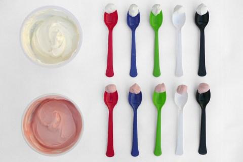 ten spoons and yogurt