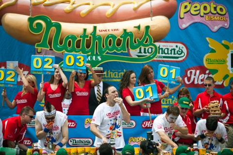 Competitive Eaters Vie For Coveted Title At Nathan's Hot Dog Eating Contest