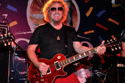 Recording artist Sammy Hagar celebrates Las Vegas' Cabo Wabo Cantina's 3 year anniversary with a live performance at Cabo Wabo Cantina on February 9, 2013 in Las Vegas, Nevada.