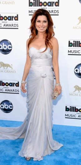 Shania Twain arrives at the 2013 Billboard Music Awards at the MGM Grand Garden Arena in Las Vegas, on May 19, 2013.