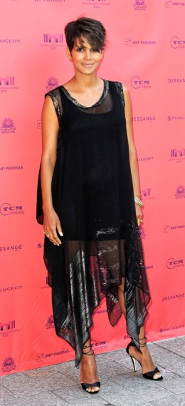 Halle Berry attends the 'Toiles Enchantees' red carpet as part of The Champs Elysees Film Festival 2013 in Paris, on June 13, 2013.
