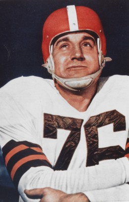 Lou Groza of the Cleveland Browns.