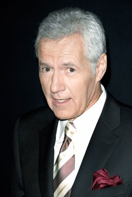 """V game show host Alex Trebek attends the """"Jeopardy!"""" Hall of Fame Sony Pictures Studios tour ribbon cutting ceremony at Sony Pictures Studios on Sep. 20, 2011 in Culver City, Calif."""