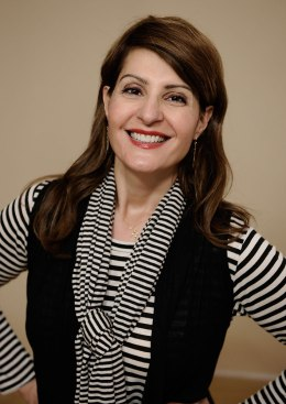 Actress Nia Vardalos poses for a portrait during the 2012 Sundance Film Festival at the Getty Images Portrait Studio at T-Mobile Village at the Lift on Jan. 22, 2012 in Park City, Utah.