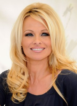 Actress Pamela Anderson attends a press conference for FrogAds.com at Petit Ermitage Hotel on March 22, 2012 in West Hollywood, Calif.