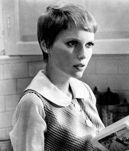 Mia Farrow in Rosemary's Baby, in 1968.