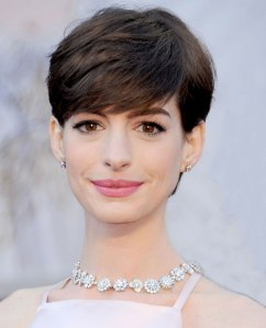 Anne Hathaway at the Oscars at Hollywood & Highland Center in Hollywood, on Feb. 24, 2013.