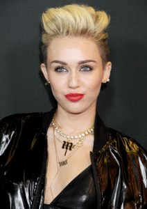Miley Cyrus at a Myspace event at the El Rey Theatre in Los Angeles, on June 12, 2013.