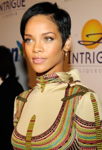 Rihanna attends the 2008 Clive Davis Pre-GRAMMY party at the Beverly Hilton Hotel in Los Angeles, on Feb. 9, 2008.