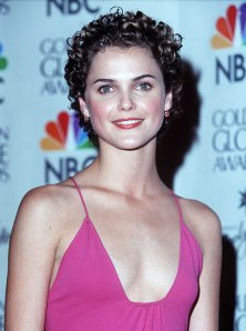 Keri Russell backstage at the 57th Annual Golden Globe Awards in Los Angeles, on Jan. 23, 2000.