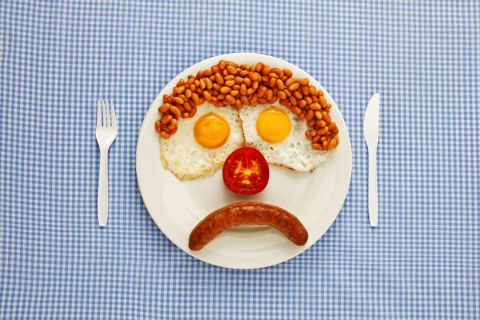 Unhappy breakfast