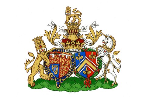 The new coat of arms for Britain's Prince William and his wife Catherine, Duchess of Cambridge is seen in this undated handout image released in London on September 27, 2013.