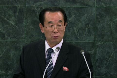 North Korea's Vice Minister for Foreign Affairs  addresses the United Nations
