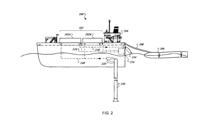 google patent floating barge