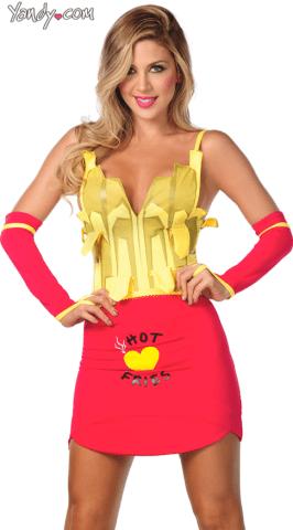 Sexy french fries costume halloween yandy