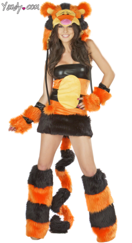sexy halloween costume handy tigger