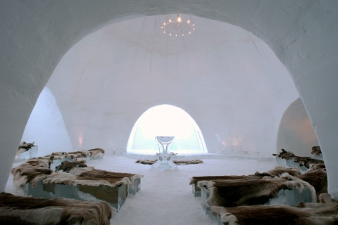 The Icehotel in Jukkasjarvi, Sweden in March, 2005.