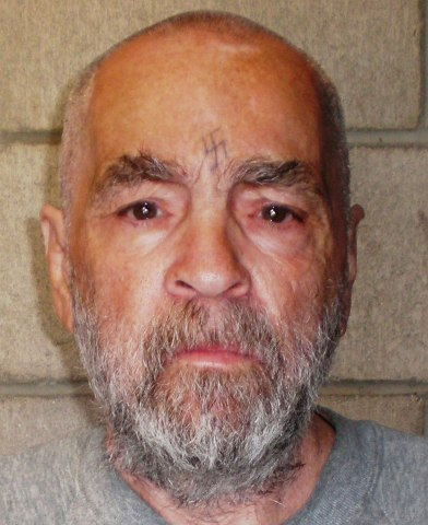 Charles Manson, 74, at Corcoran State Prison in California, on March 18, 2009. The picture was taken as a regular update of the prison's files.