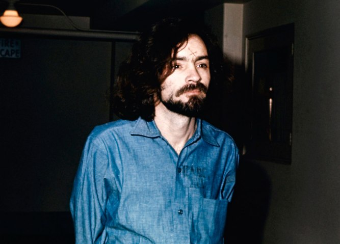 Charles Manson during his trial, in 1970.