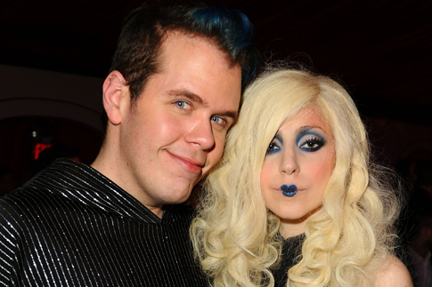 From left: Celebrity blogger Perez Hilton and Lady Gaga attend the MOCA NEW 30th anniversary gala held at MOCA on Nov. 14, 2009 in Los Angeles.