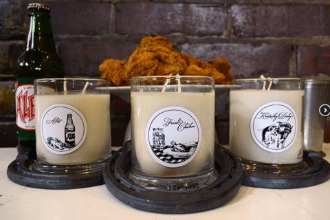 fried chicken kentucky candle