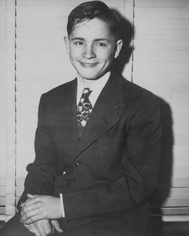 Charles Manson, three days before he ran away from Boy's Town, in Omaha in 1947.