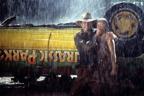 Sam Neill And Ariana Richards In 'Jurassic Park'