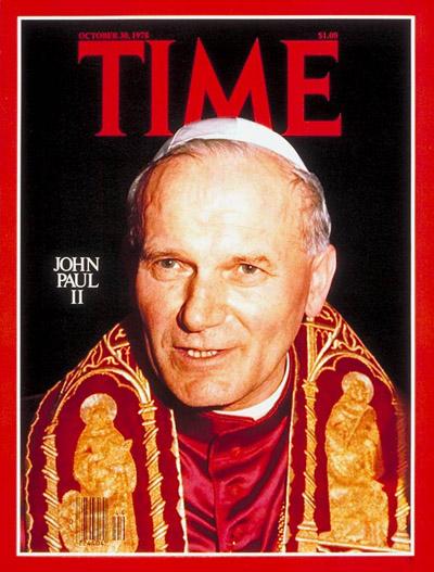 John Paul II devil horns