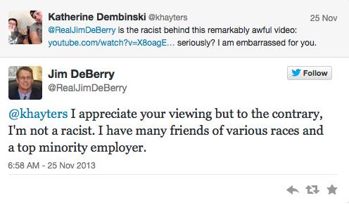 racist ad tweet