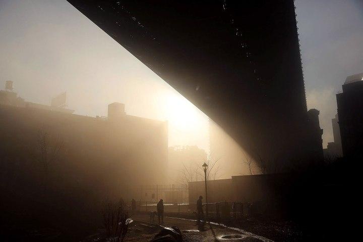 Fog Descends On Manhattan