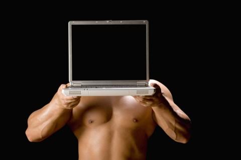 narcissist man laptop